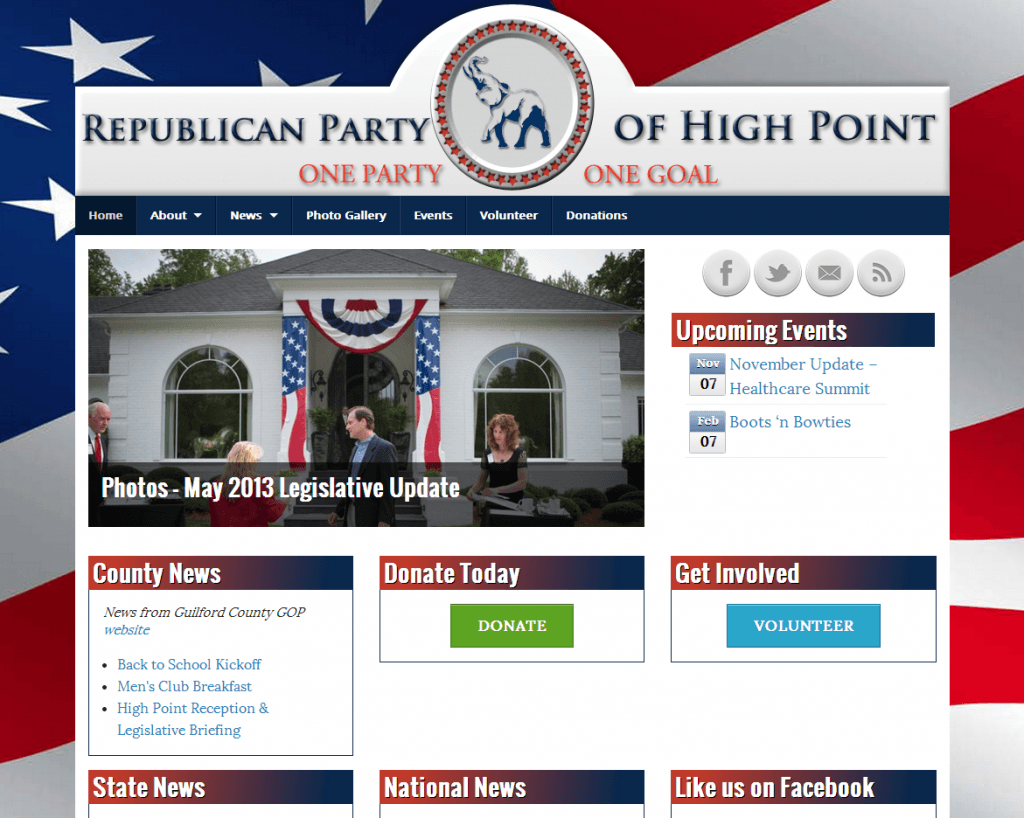 Republican Party of High Point Screenshot